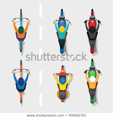 top view of people and scooter vector illustration c daniel cole bluering 7128143 stockfresh stockfresh