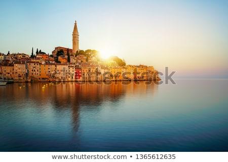 Mooie oude binnenstad Kroatië Europa huis stad Stockfoto © smuki