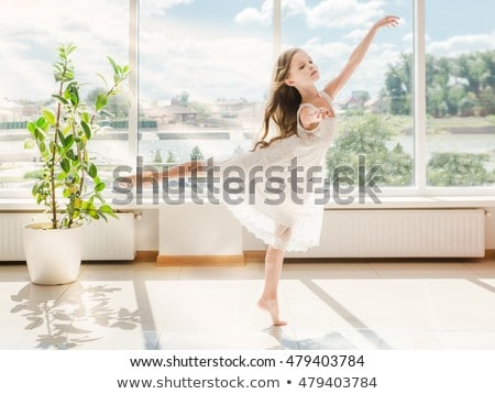 girl is studying ballet. Stock photo © choreograph