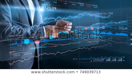 Zespół firmy handlowy finansów giełdzie analiza wykres Zdjęcia stock © snowing