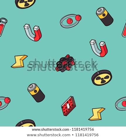 Physik Farbe Gliederung Muster Wissenschaft Ausrüstung Stock foto © netkov1