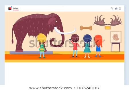 Organisatie kinderen museum vector kinderen Stockfoto © robuart