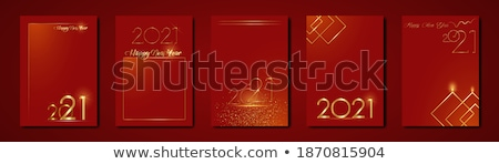 purple and gold chinese new year greeting background Stock photo © SArts