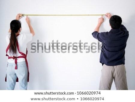 интерьер рабочих два художника рулетка стены Сток-фото © Freedomz