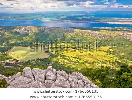 Vinodol valley and lake Tribalj view from Mahavica viewpoint Stock photo © xbrchx