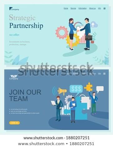 Trabalhadores ligações on-line apoiar negócio vetor Foto stock © robuart