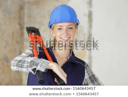 Woman carrying bolt cutters Stock photo © photography33