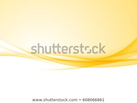 ストックフォト: 明るい · 黄色 · ベクトル · 波 · 抽象的な · 波状の
