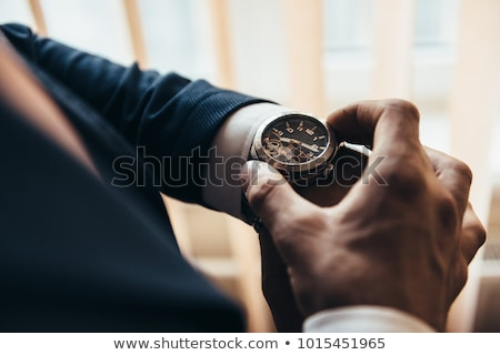 Man with clock Stock photo © photography33