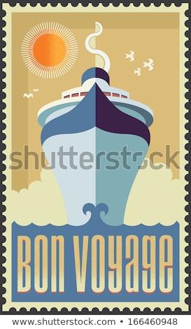 Vector Retro Cruise Ship Graphics Foto stock © rtguest