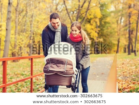 family with baby on autumn bridge stock photo © Paha_L