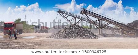 Sóder kövek építkezés gyár üzlet munka Stock fotó © lunamarina