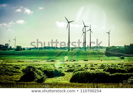 elektrische · toren · groene · weide · hemel · metaal - stockfoto © lunamarina