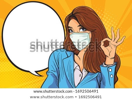 woman with okay gesture Stock photo © stepstock
