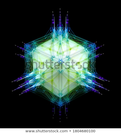 3d abstract blue purple spiked shape pattern on white  Stock photo © Melvin07