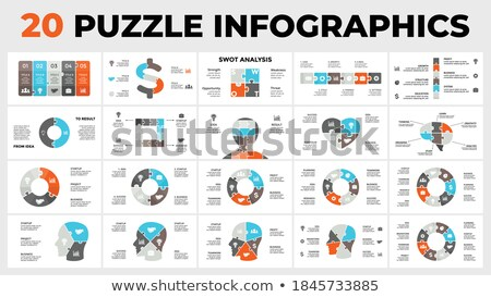vector puzzle elements for your infographics stock photo © orson