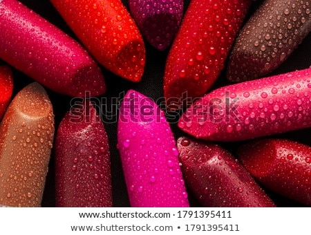 女性 赤い唇 見える 色 塗料 パレット ストックフォト © vlad_star