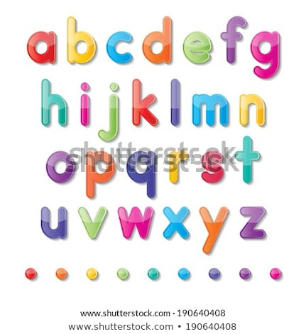 Small letters of the alphabet Stock photo © bluering