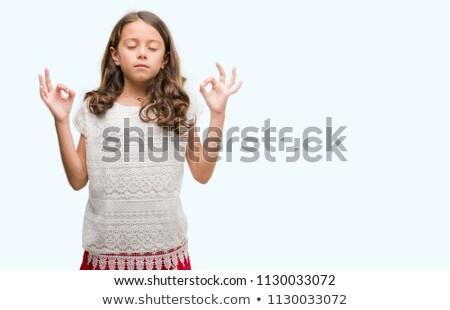 Higgadt barna hajú jóga test fitnessz szépség Stock fotó © wavebreak_media