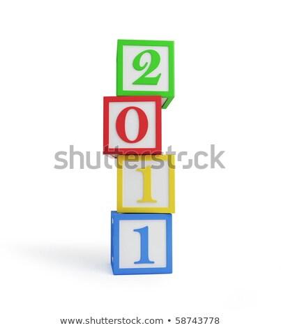 2011 illustrazione bianco abstract sfondo arte Foto d'archivio © get4net
