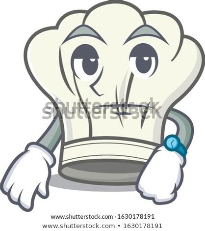 Desenho animado entediado chef olhando Foto stock © cthoman