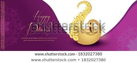 Stock photo: happy diwali crackers background design
