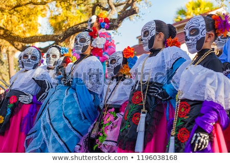 Aztec skulls Mexican Day of the Dead colorful Stock photo © lunamarina
