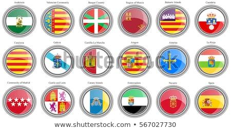 スペイン国旗 · アイコン · デザイン · 長い · 影 - ストックフォト © doomko