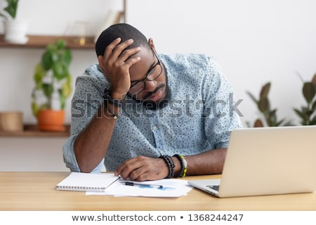 ビジネスマン コンピュータ オフィス ビジネスの方々  締め切り ストックフォト © dolgachov