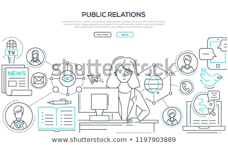 Banners about Different microphones types Stock photo © netkov1