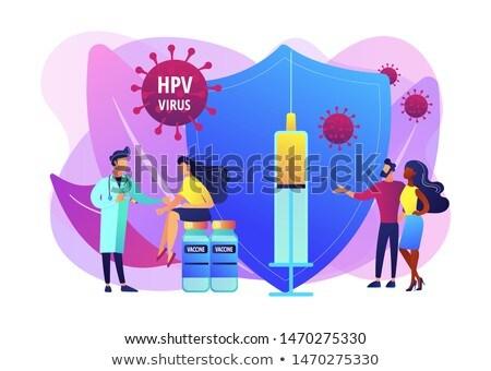 Human papillomavirus HPV concept vector illustration Stock photo © RAStudio