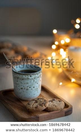Schokolade aromatischen Kerze Weihnachten neue Jahre Stock foto © Anneleven