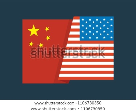 Relationship between America and China on white background. Isol Stock photo © ISerg