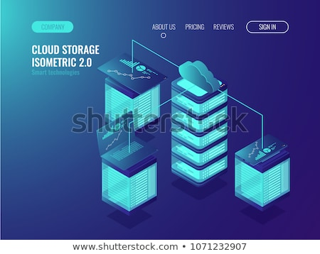 Monitor with clouds Stock photo © ShustrikS