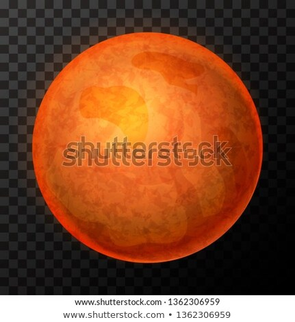 Realistic Saturn with texture, colorful planet on transparent background Stock photo © evgeny89