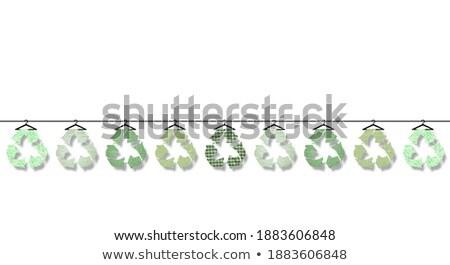 Fenntartható divat szalag fejléc újrahasznosítható öko Stock fotó © RAStudio