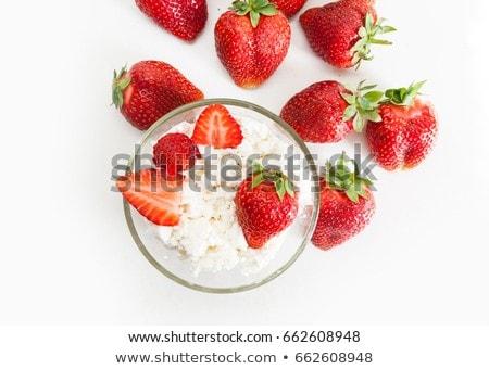 Delicioso sobremesa requeijão tabela acima saboroso Foto stock © dashapetrenko
