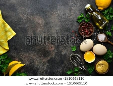 自家製 マヨネーズ ソース 成分 料理 卵 ストックフォト © furmanphoto