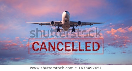Plane business travel and flight canceled because of coronavirus travel ban. Crisis in aviation, air Stock photo © Maridav