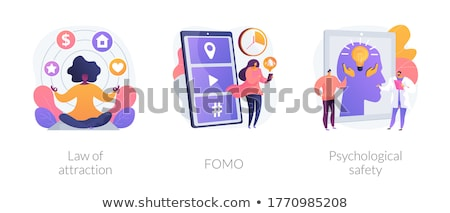 FOMO abstract concept vector illustration. Stock photo © RAStudio