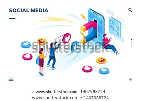 Iniş sayfa yeni reklam strateji hedef Stok fotoğraf © RAStudio