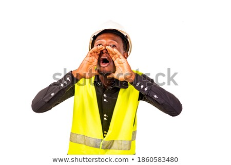angry businessman wearing a helmet Stock photo © photography33