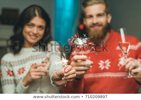 happy couple celebrating event with champagne Stock photo © photography33