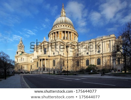 st pauls cathedral and statue of saint paul in london stock photo © chrisdorney