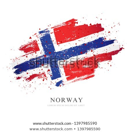 Handdrawn flag of Norway Stock photo © claudiodivizia
