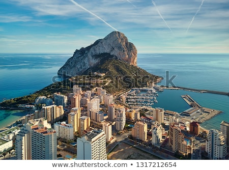 Calpe in Alicante Spain at Valencian Community Stock photo © lunamarina