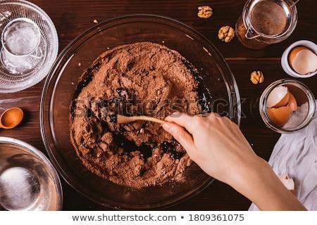 Fındık kek tatlı somun şeker fırın Stok fotoğraf © M-studio