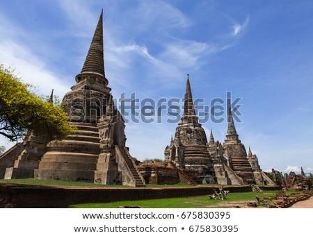 famous temple area Wat Phra Si Sanphet Stock photo © meinzahn