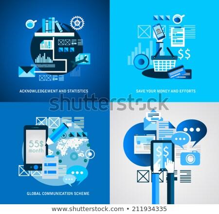 Estilo ui negócio projeto marketing promoção Foto stock © DavidArts