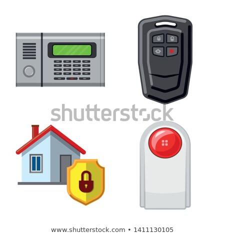 Protection Web Internet Red Vector Button Icon Design Set Stock photo © rizwanali3d